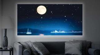 Iluminacion De Cuadros Con Leds Buscar Con Google Flat Screen Flatscreen Tv Electronic Products