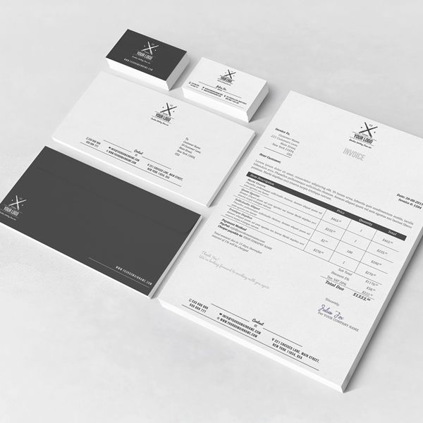 Invoice Template Behance Corporate Stationery Set On Behance  Free Stationery Templates For Word