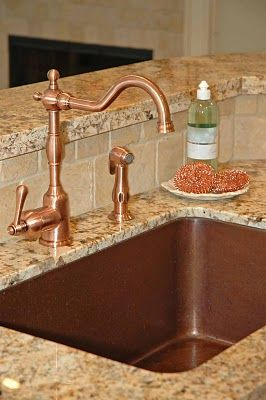 What Faucet Goes With A Copper Sink With Images Copper Sink