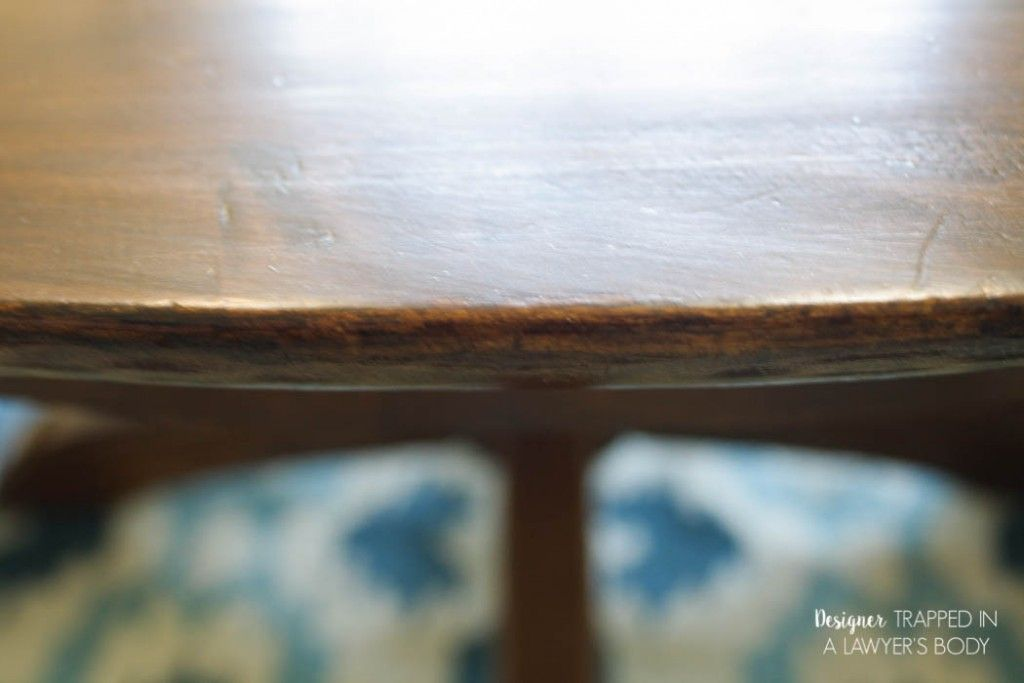 How to Refinish a Table without Sanding & Stripping ...