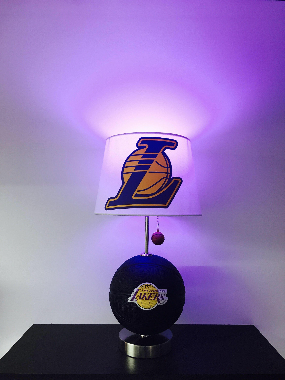 Los Angeles Lakers Lamp, LA Lakers Lamp, Lakers Light, Basketball Decor,  NBA, NBA Lamps, Gifts For Men, Room Decor, Man Cave, Kobe Bryant, Magic  Johnson, ...