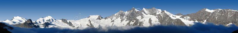Panorama of mountains in Valais, Switzerland. Big Panorama of mountains in Valai ,