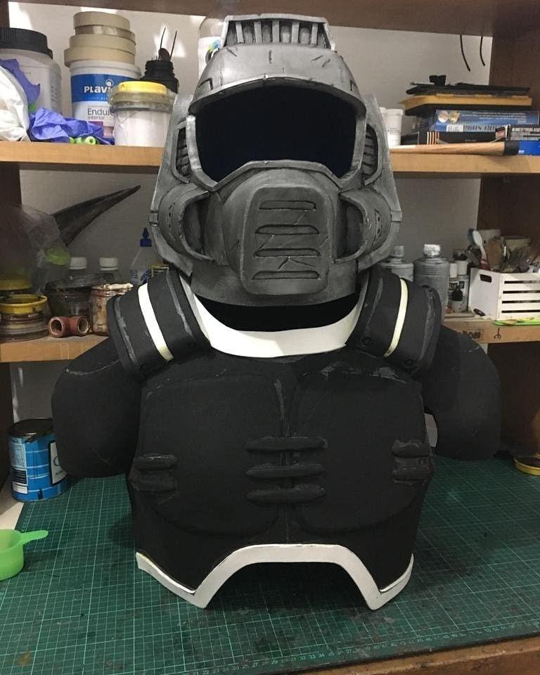 Classic Doom Marine Helmet And Armor Wip Doom Doomguy
