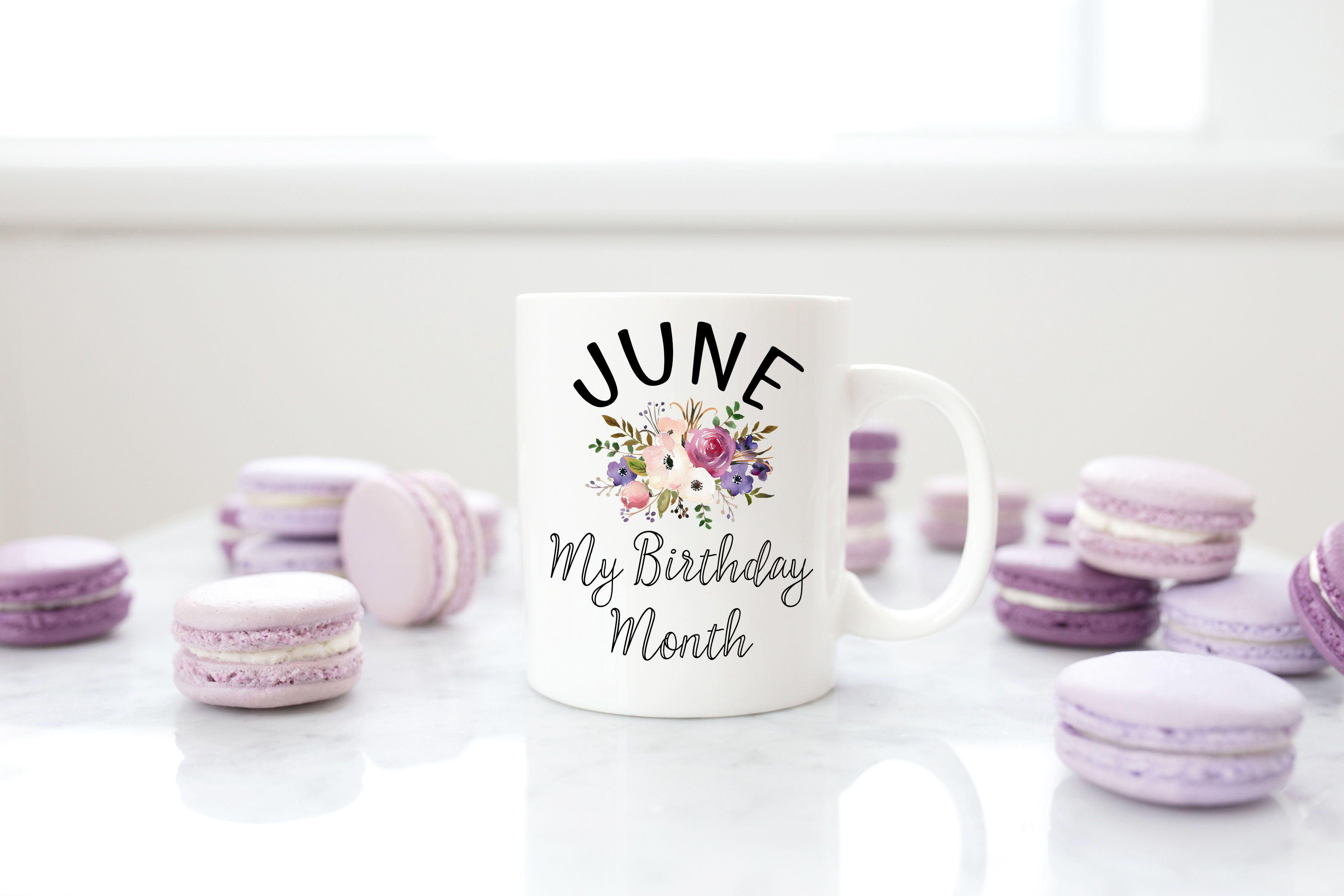 June My Birthday Month Mug, Birthday Gift, Birthday Coffee Mug