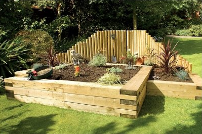 Garden Improvement Ideas Using Railway Sleepers - Landscape Juice ...