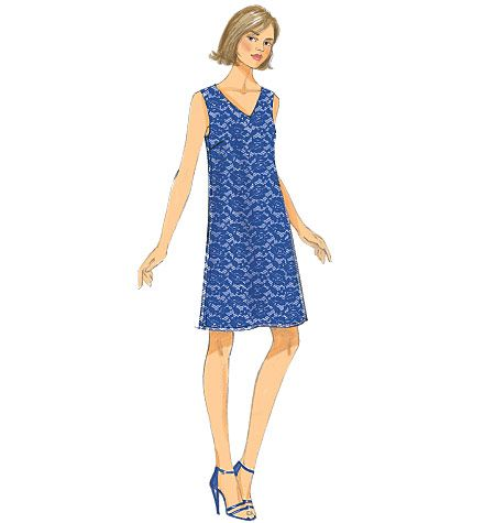 v neck dress patterns