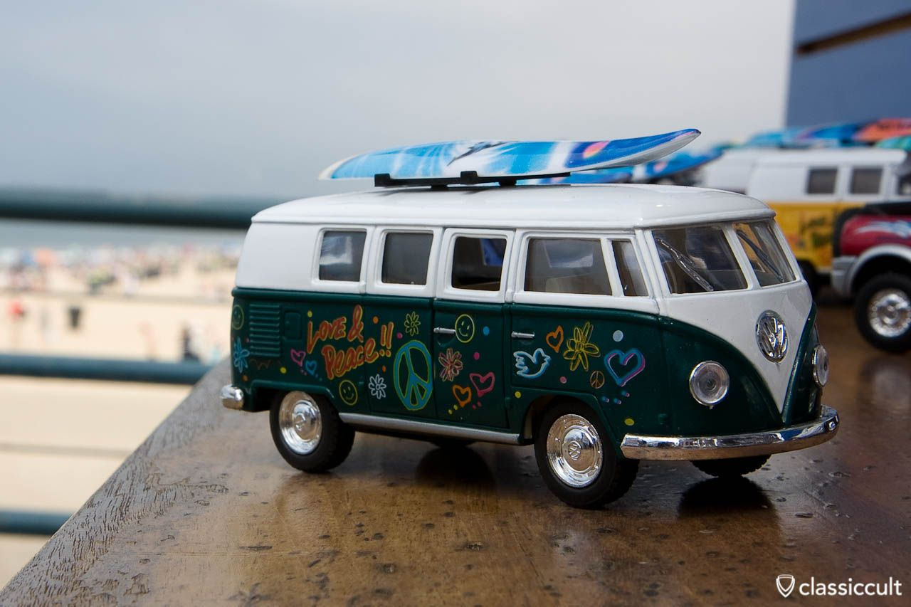 VW T1 Bus Santa Monica Pier Los Angeles jenns art stuff