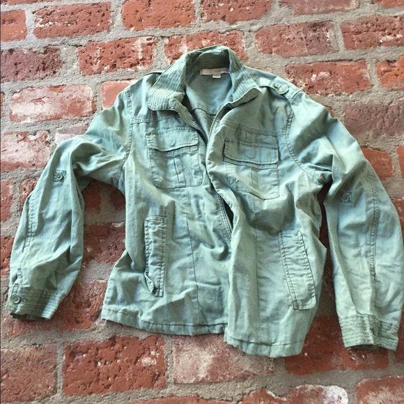 Light green jacket 55% linen and 45%cotton. Lots of pockets! Sister moon Jackets & Coats
