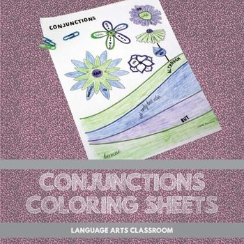 Coloring Activity Ideas : Conjunctions flower coloring sheet sheets and