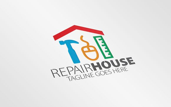 Repair House Logo By Essegraphic On Creative Market Vestimentas