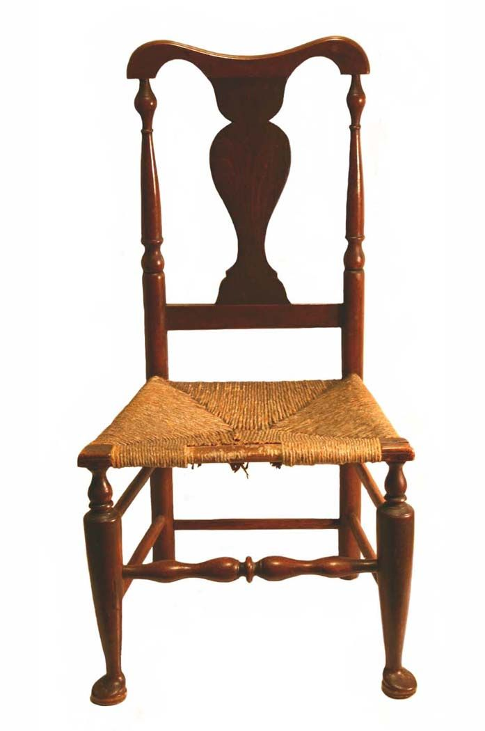 18th C Queen Anne Side Chair Antiques Collectibles