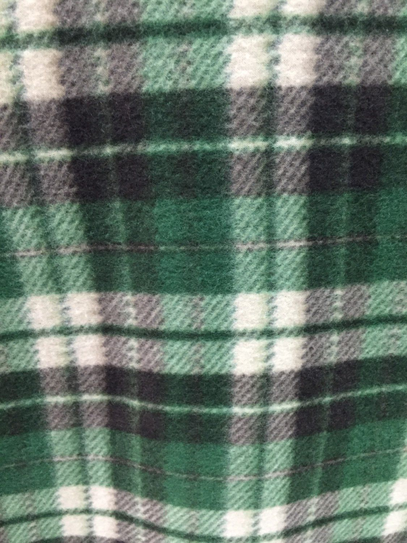Plaid print polar fleece fabric green by the yard plaid colours