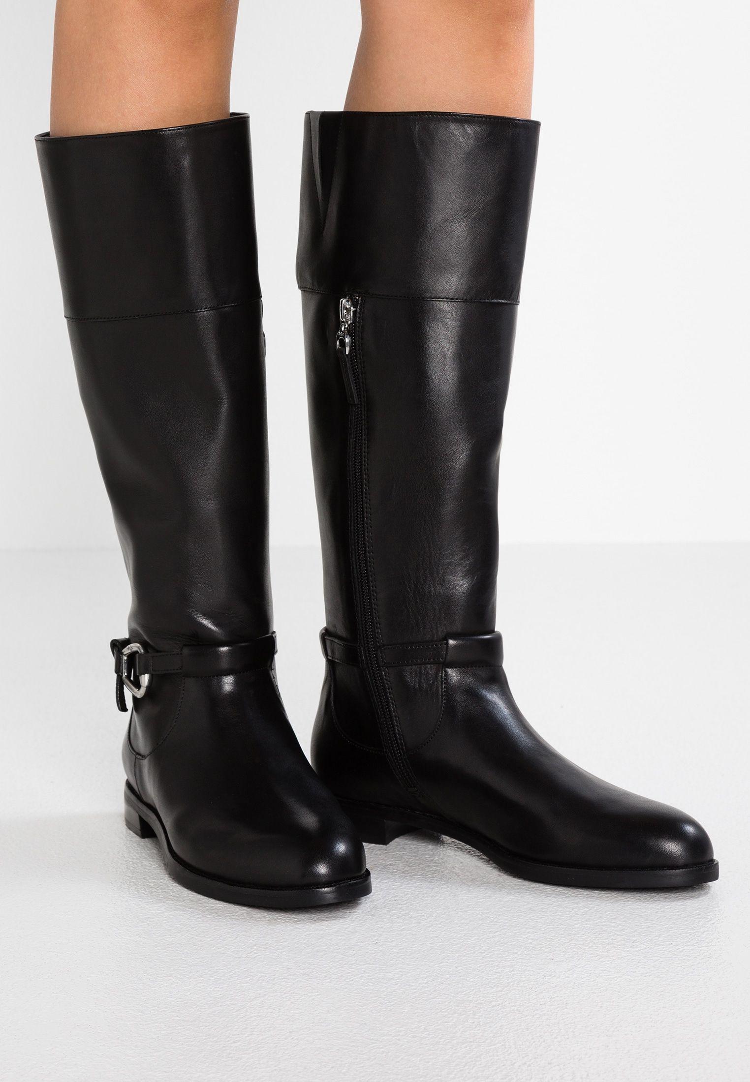 3e2a8291a6a Lauren Ralph Lauren HARLEE - Kovbojské/motorkářské boty - black ...