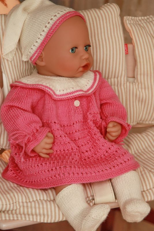 free knitting patterns for doll clothes | Doll knitting | doll ...