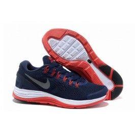 Købe Nike LunarGlide+ 4mesh Mørkblå Rød Hvid Herre Skobutik | Køligt Nike LunarGlide+ 4mesh Skobutik | Nike Skobutik Salg | denmarksko.com