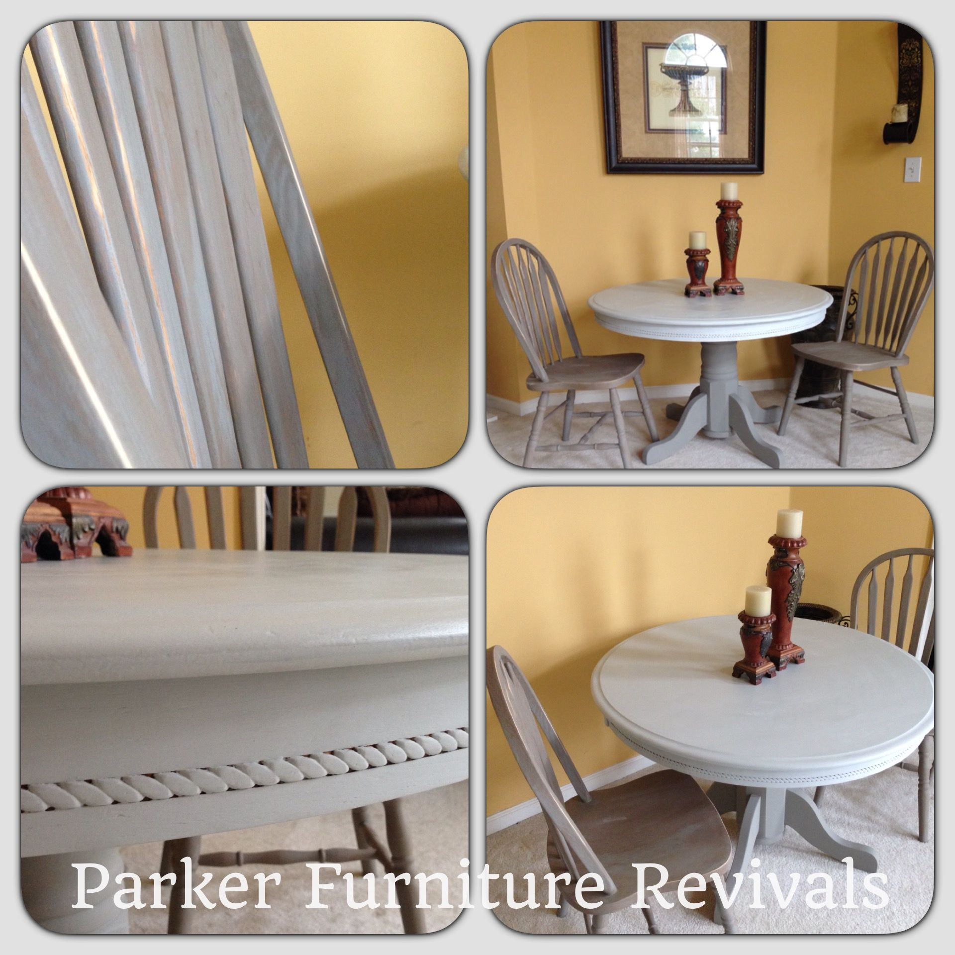 Painted In Martha Stewart Smoke And Annie Sloan French Linen Chalk Paint.