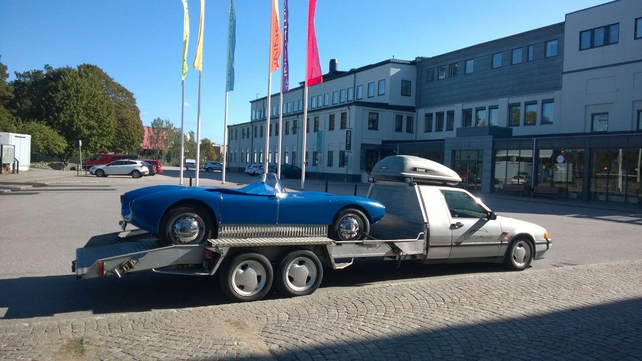 Saab Sonett And 9000 Solstad Transporter From The Museum In Trollhättan Move Car