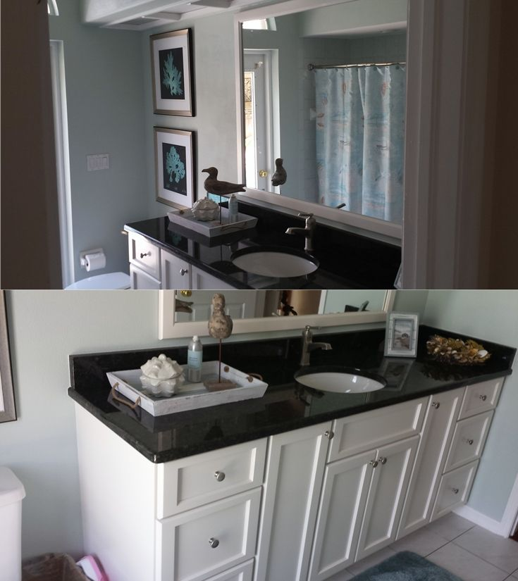 this is a small bathroom renovation we completed for the