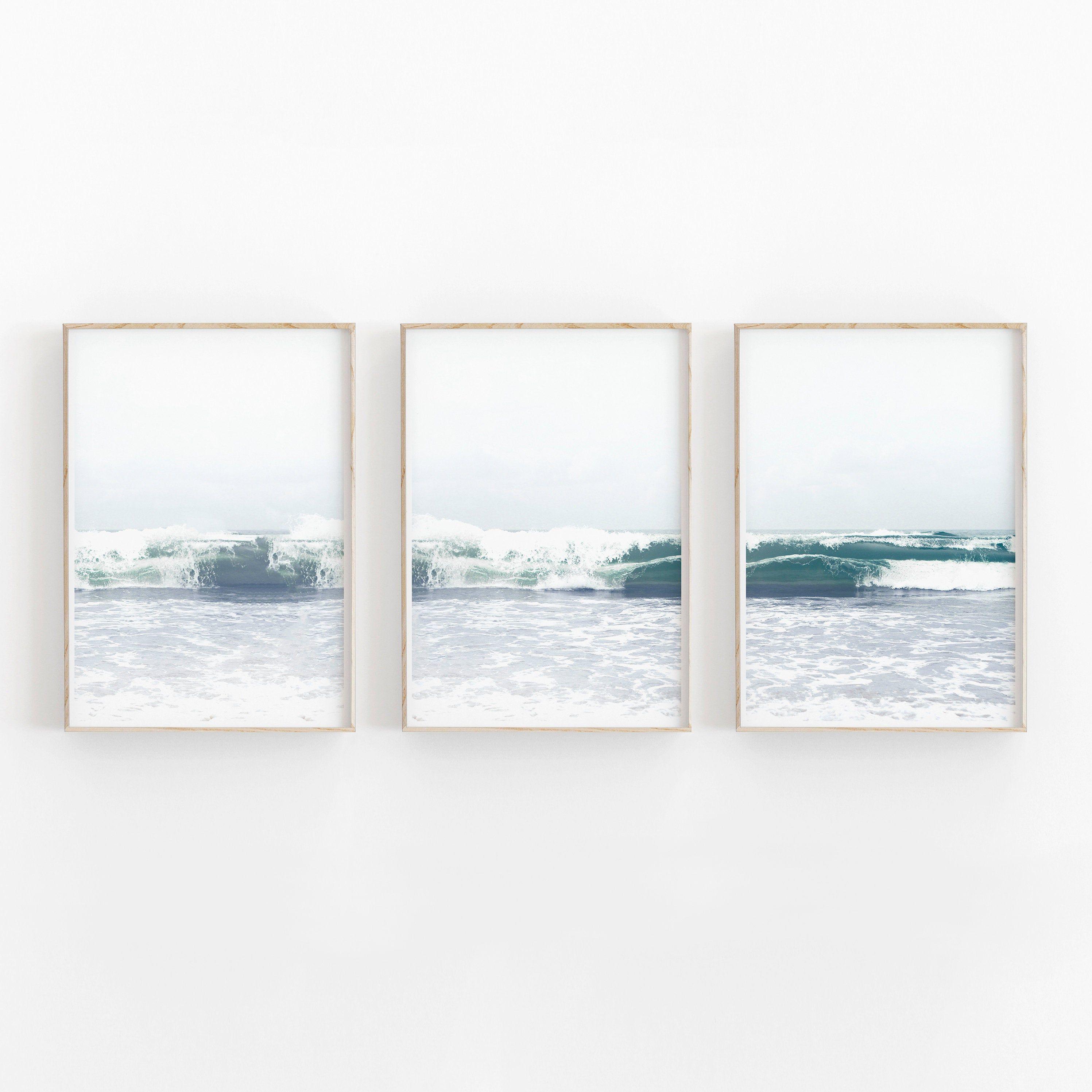 Beach Print Set Of 3 Instant Art Instant Download Modern