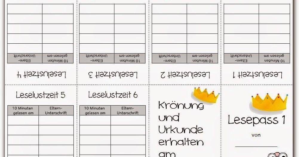 lesepass leseurkunde endlich pause lesen deutsch klasse 2 lesen schule und volksschule. Black Bedroom Furniture Sets. Home Design Ideas