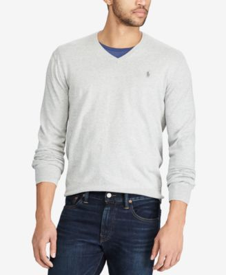 Polo Ralph Lauren Men's V-Neck Sweater - Provence Purple Heather ...