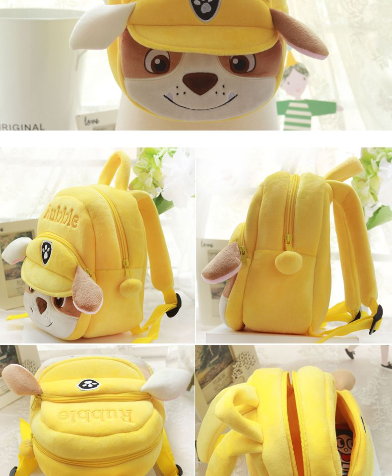 cbc74882c5 Unisex Zipper Baby Cute Kids Plush Backpacks Mini schoolbag Puppy Plush  Backpack Children School Bags For Baby 1-3 Years old