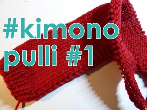 Stricken mit eliZZZa * Kimono-Pulli quergestrickt * Teil 1