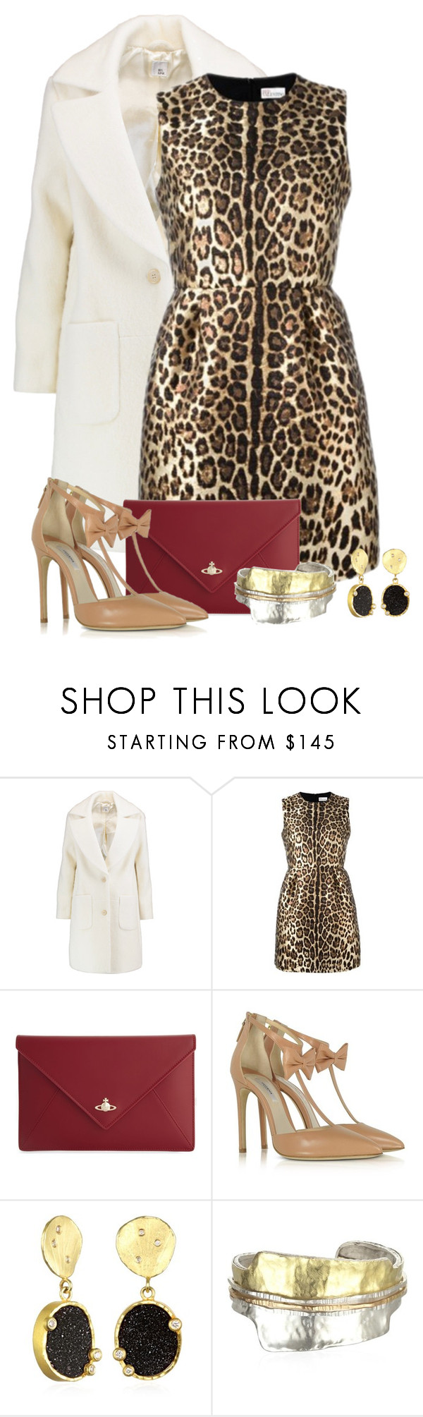"""""""Untitled #2375"""" by anfernee-131 ❤ liked on Polyvore featuring Iris & Ink, RED Valentino, Vivienne Westwood and Olgana"""