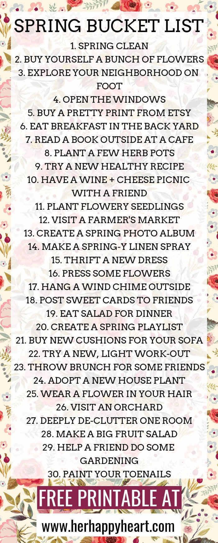 Photo of The ULTIMATE Spring Bucket List