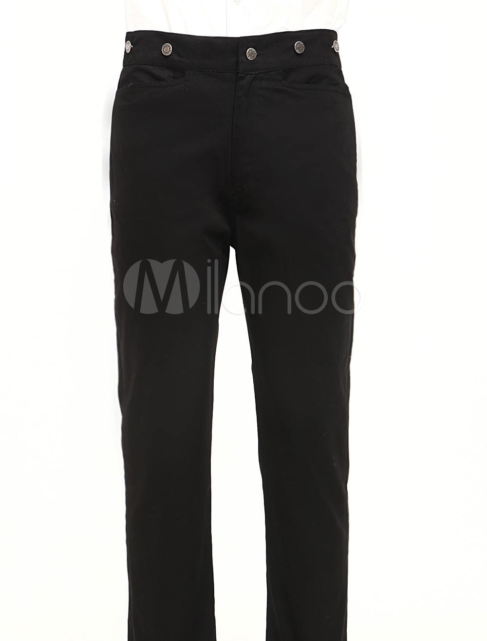 #Milanoo.com Ltd          #Steampunk  Trousers      #Classic #Black #Cotton #Mens #Steampunk #Trousers  Classic Black Cotton Mens Steampunk Trousers                                  http://www.seapai.com/product.aspx?PID=5717999