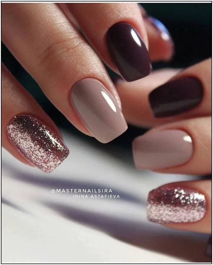 The 40 Trendiest Fall Nail Colors Fall Nails Inspiration 2 Cute Nail Colors Fall Gel Nails Neutral Nails
