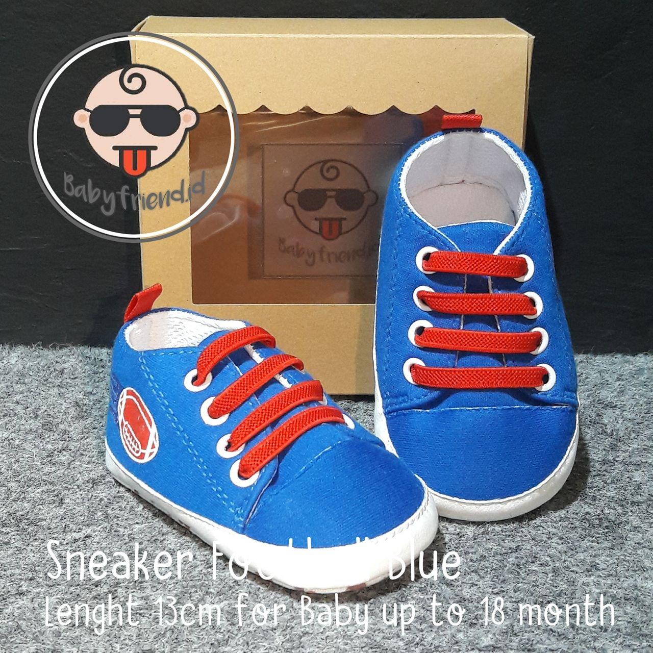 Pin Di Sepatu Bayi Prewalker Sneaker Football Blue Sepatu Bayi