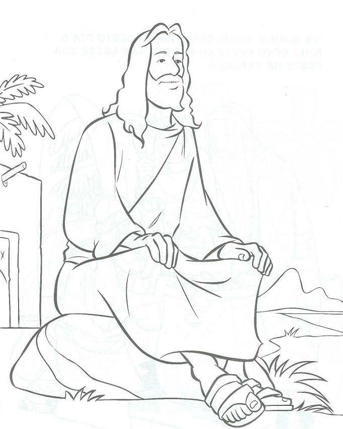 Jesus Of Nazareth Coloring Page 1 Jpg 682 854 Pixels Bible