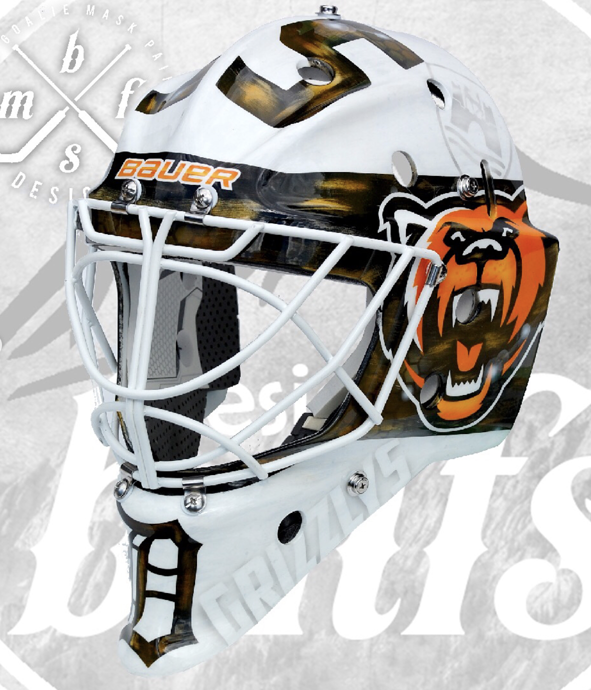 newest 2c3a6 375b2 This is one of our favorite white based goalie mask ideas from our list of  paint job ideas.