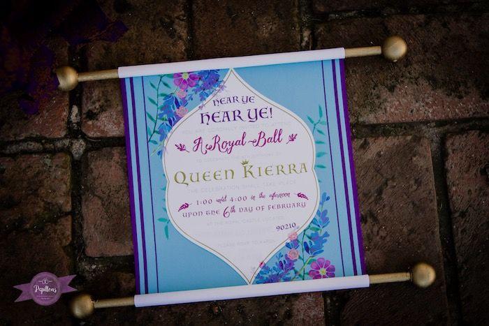 Invitation from Princess Royal Ball Birthday Party at Kara's Party Ideas. See more at karaspartyideas.com!