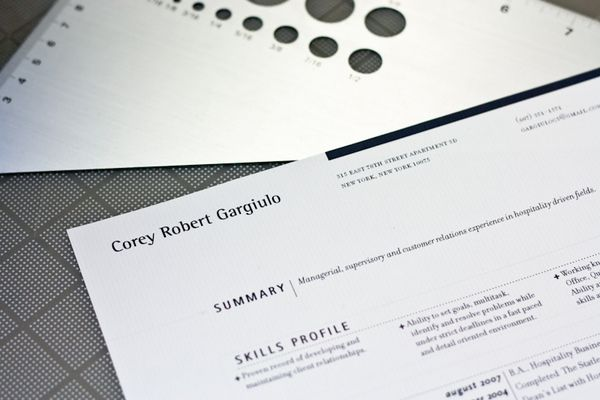 Resume Layouts by Hayden Miller, via Behance Infographics - resume layouts
