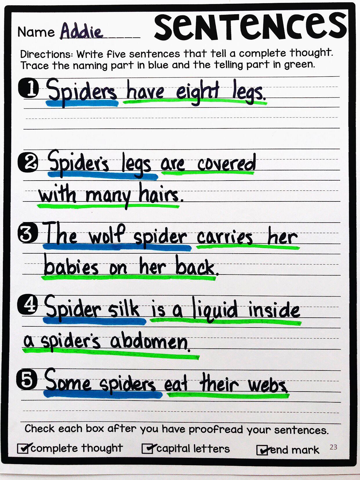 Building Sentences Expanding Sentences Types Of Sentences Expanding Sentences Writing Complete Sentences Types Of Sentences