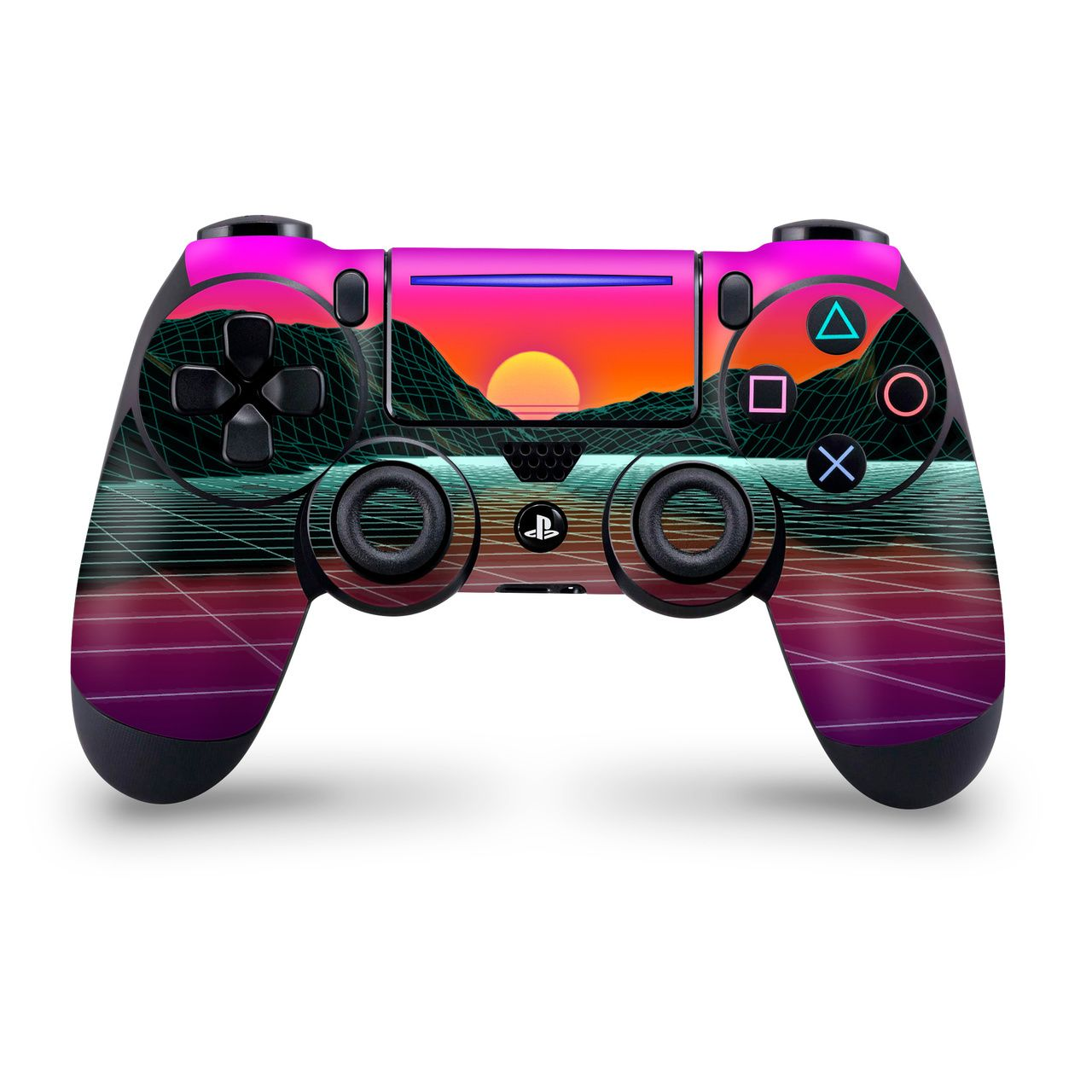 Outrun Mountain Sunset PS4 Pro/Slim Controller Skin Ps4