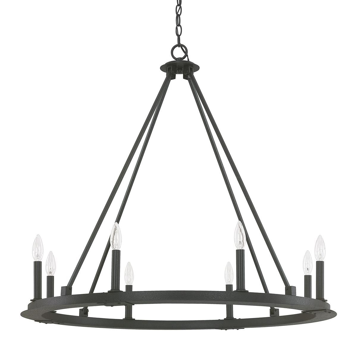 Minimalist Iron Ring Chandelier 8 Light With Images Iron