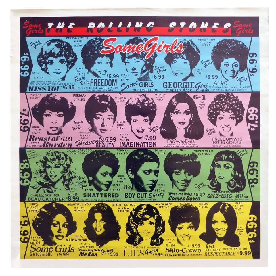 1970s The Rolling Stones Banned Some Girls Poster Rare Pop Art 1 Vintage Posters Girl Posters Vintage Movies
