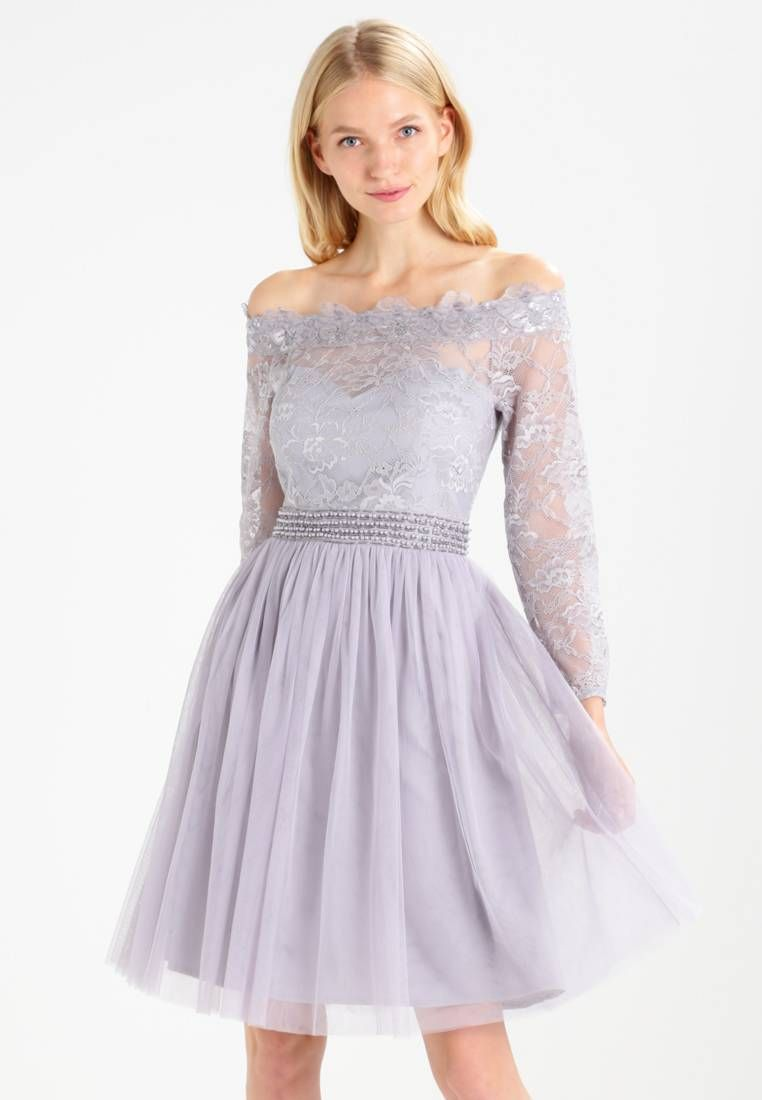 041c7082d6 Little Mistress. Sukienka koktajlowa - grey. Górna część 100% poliester.  długość