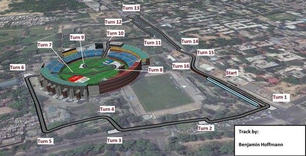 Les pistes des fans pour l'ePrix de New Delhi.