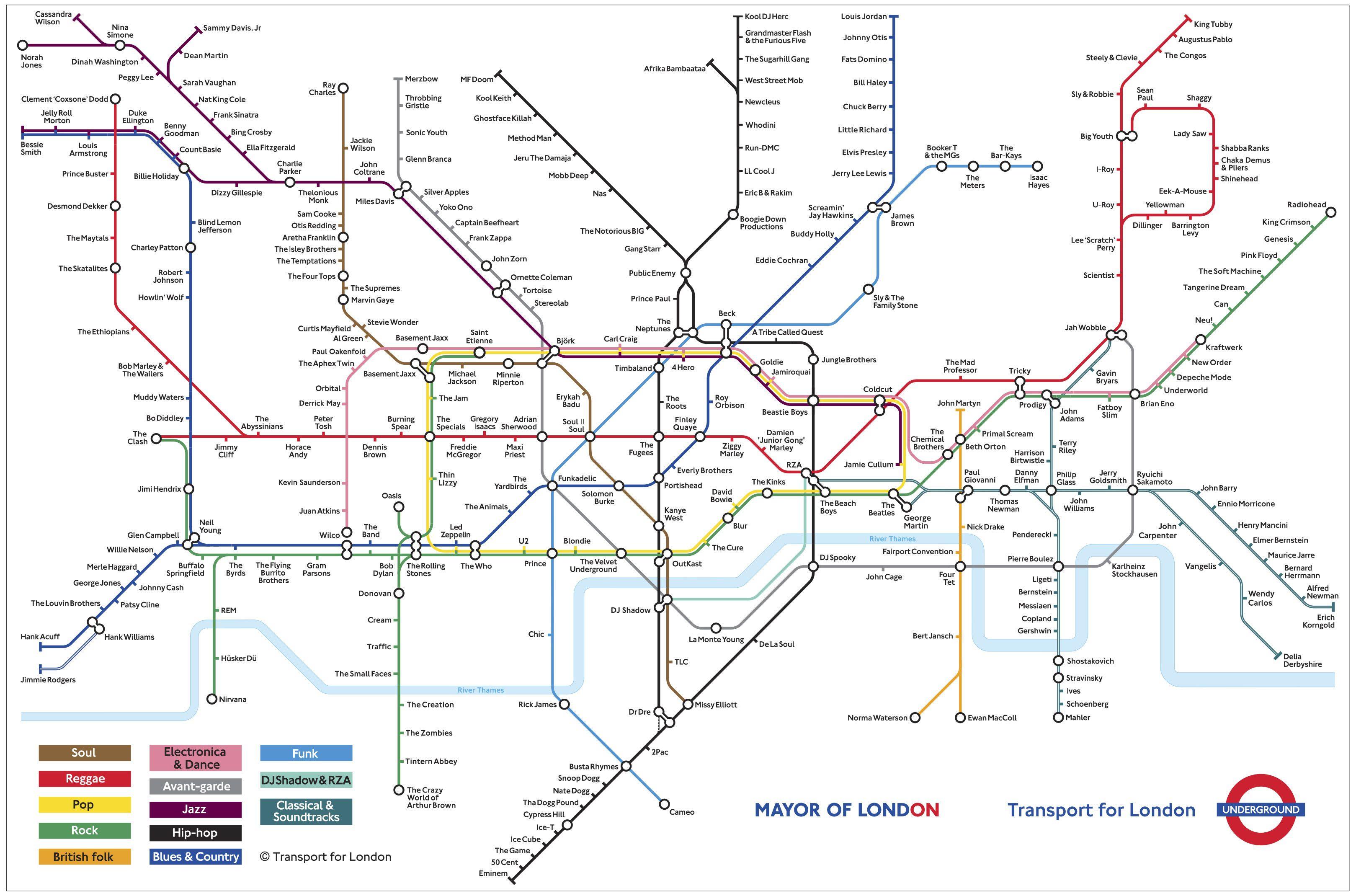 Underground Large Underground Map London Underground Map