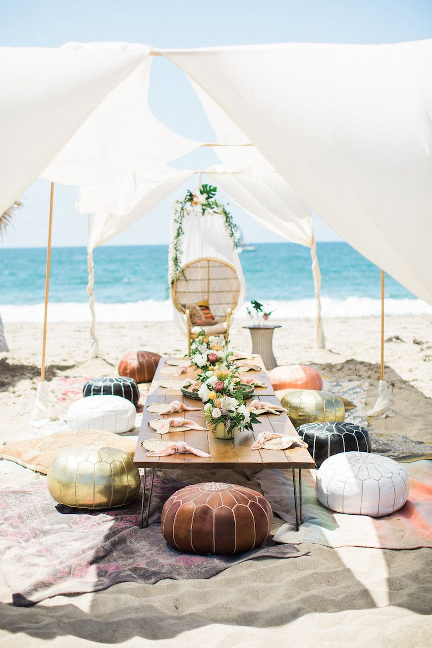 Tulum inspired boho beach birthday party featuring