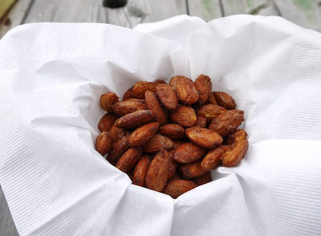 Cinnamon Salted Roasted Almonds! Great just to have sitting out for people to snack on