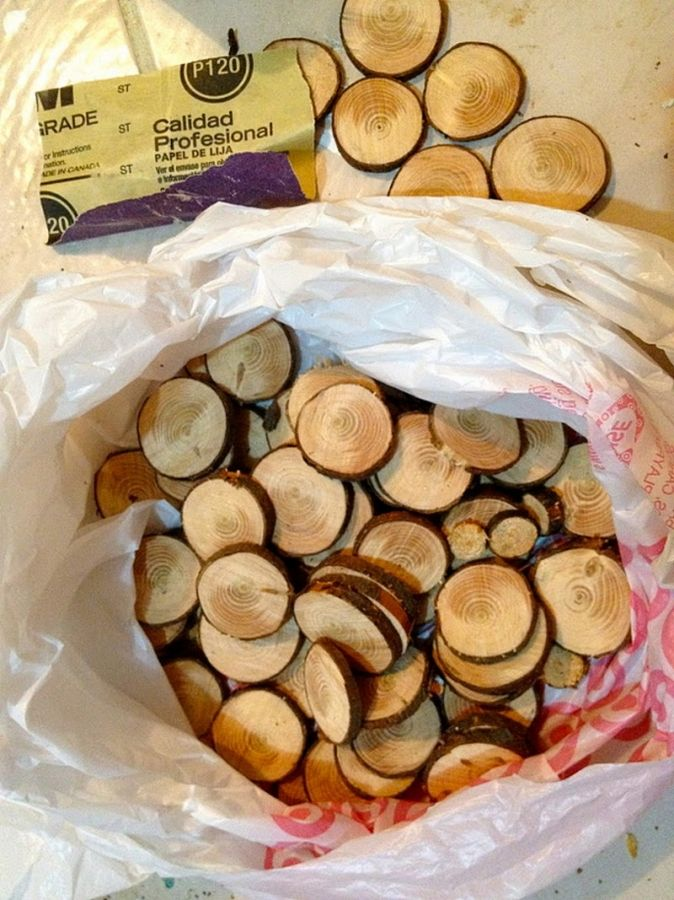 Diy wood slice mirror wood slices muebles pinterest for Wood slice craft projects