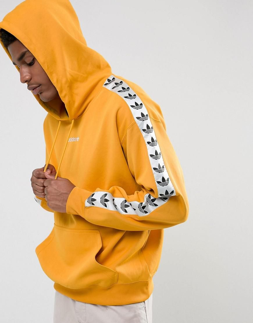 978d0c2bf Adidas Originals Adicolor Tnt Tape Hoodie In Yellow Bs4669 in 2019 ...
