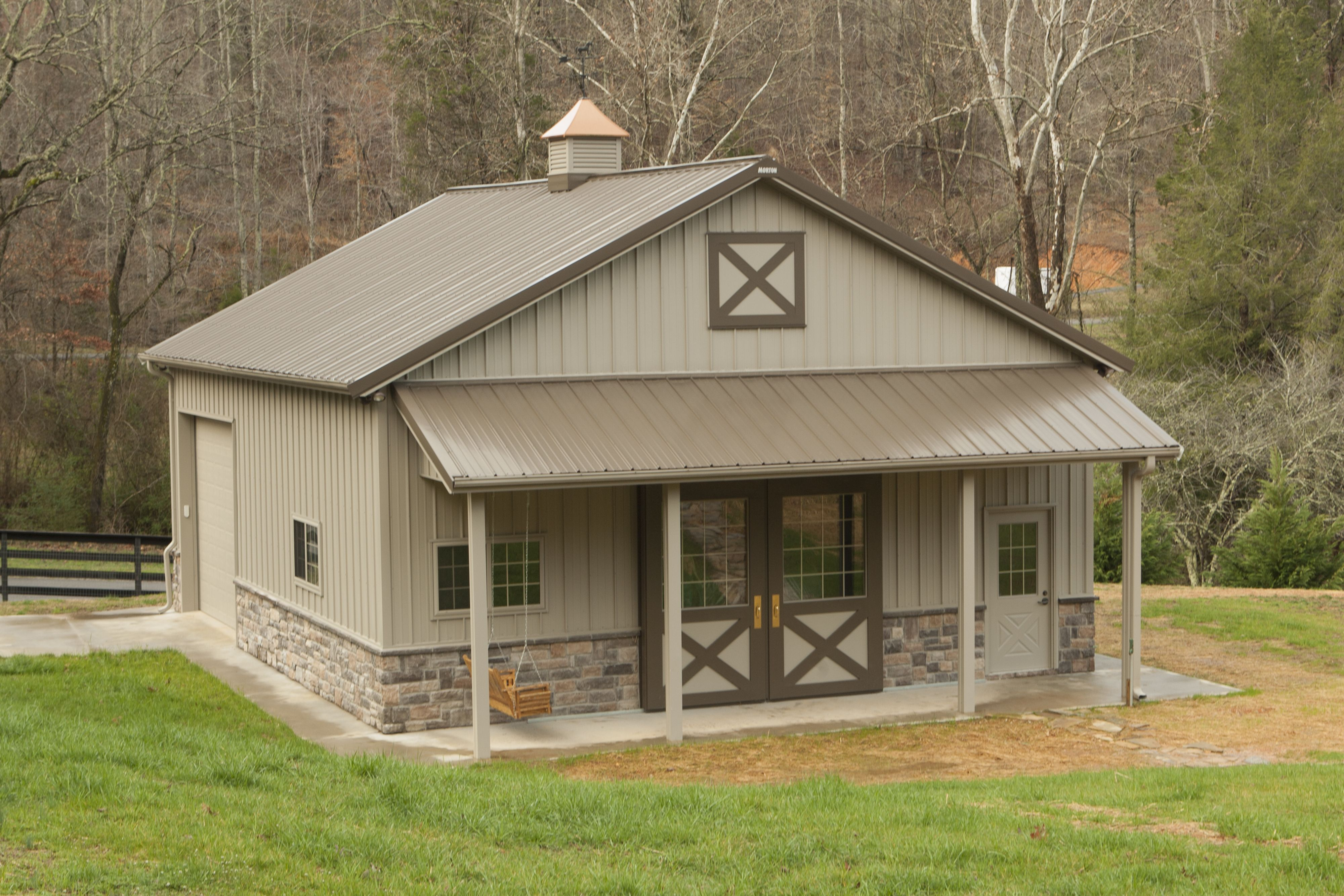 Morton buildings garage in knoxville tennessee pinteres Metal pole barn homes plans