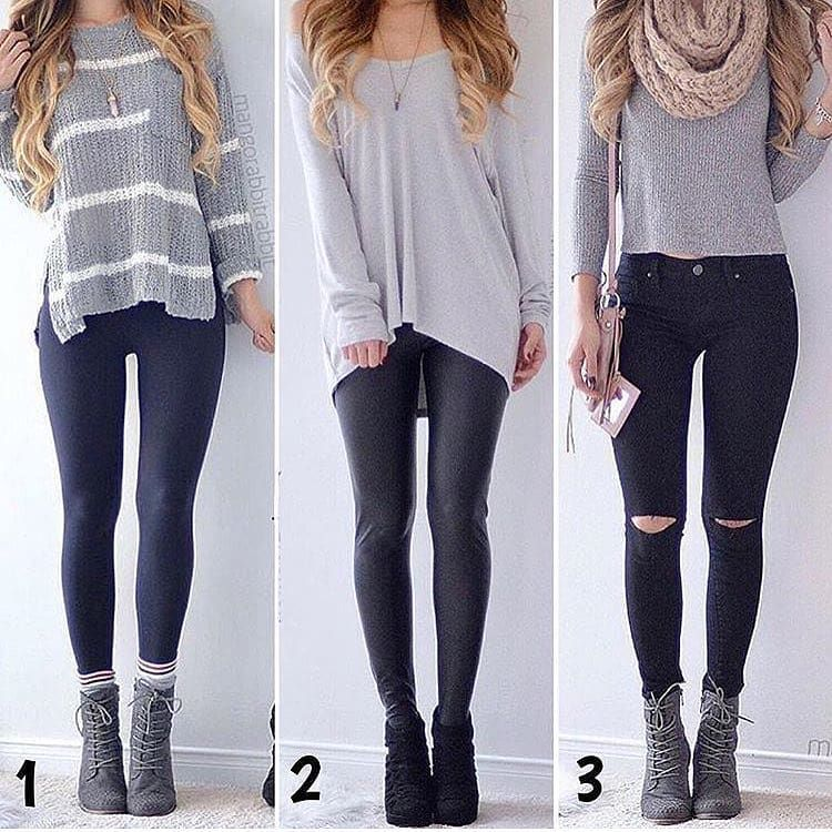 "Fashion Ideas on Instagram: ""Choose one. ❤️"" #collegeoutfits"