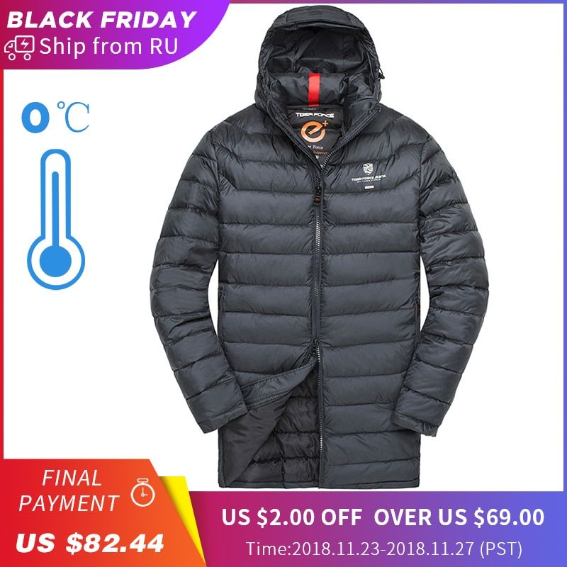 951eedfd080f TIGER FORCE Men Padded Jacket Winter Male Medium-Long Coat Bio-based Cotton  Coat Men's Warm Winter Jacket Spring Autumn Parka Review